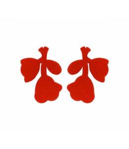 Souvenirs de Pomme Oorbel Megane Red Velvet