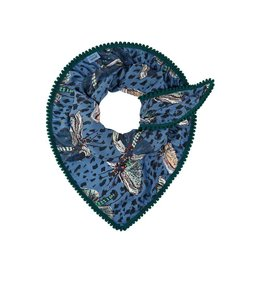 POM Amsterdam Sjaal Flying Bugs Blue