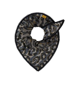 POM Amsterdam Sjaal Big Leopard Grey