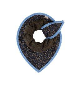 POM Amsterdam Sjaal Small Leopard Blue