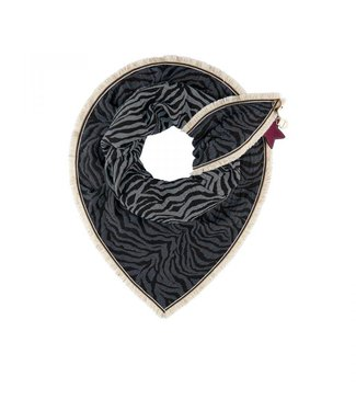 POM Amsterdam Sjaal Premium Zebra Denim