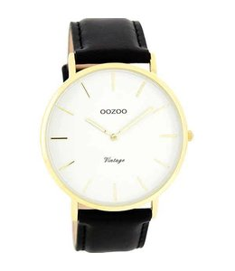 Oozoo Uurwerk Vintage Black/White Gold