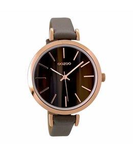 Oozoo Uurwerk Timepieces Taupe Amber