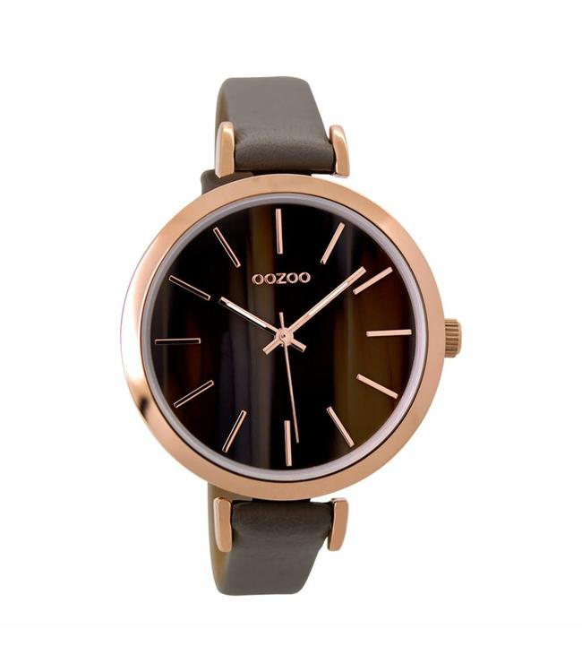 Oozoo Watch Timepieces Taupe Amber