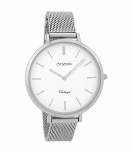 Oozoo Watch Vintage Silver White