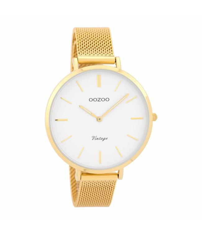 Oozoo Watch Gold Vintage White