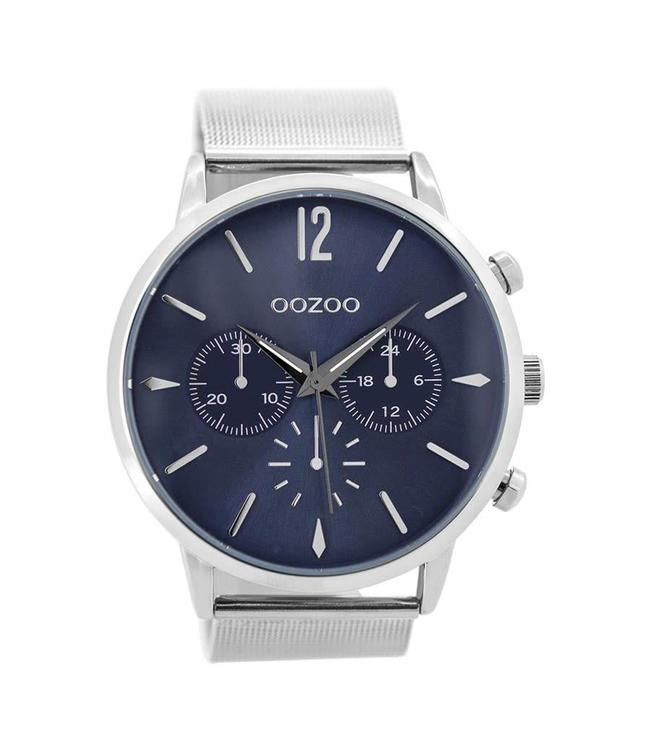 Oozoo Watch Timepieces Silver/blue