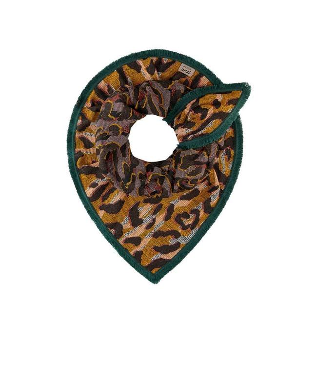 POM Amsterdam Echarpe Big Leopard Ocre