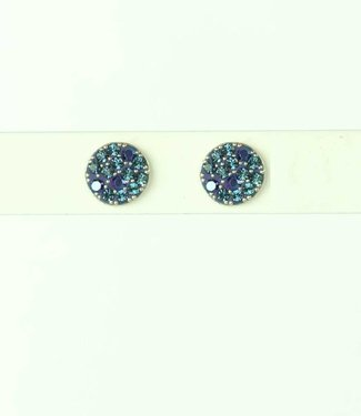 Phantasya Earring Crystal Sphere Stud Blue