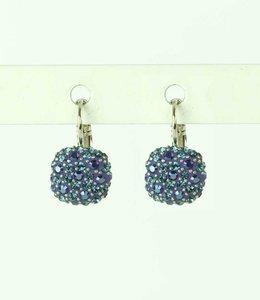 Phantasya Oorbel Crystal Square blue