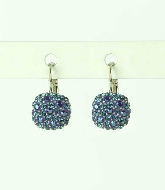 Phantasya Earring Crystal Square blue