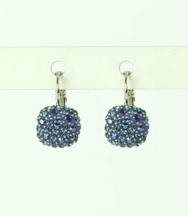 Phantasya Earring Crystal Square blue