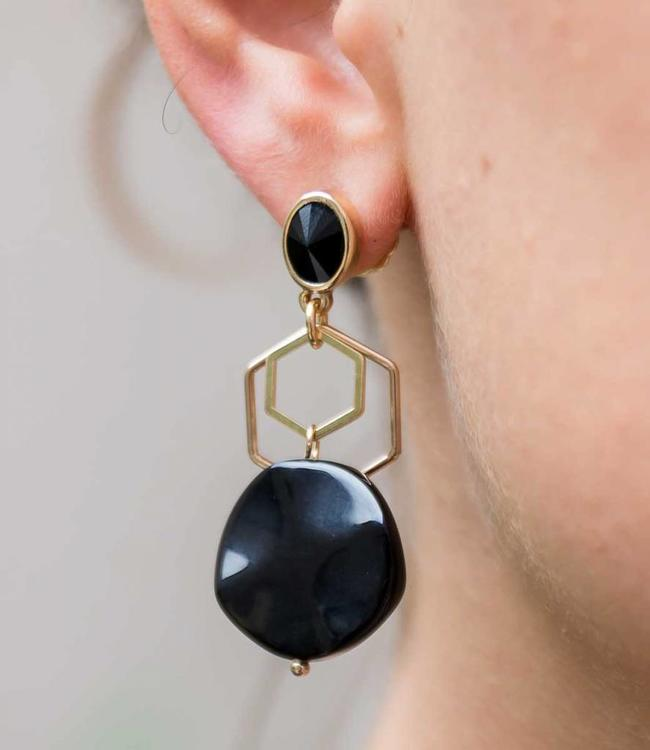 Inge Accessori Earring Bellezza black