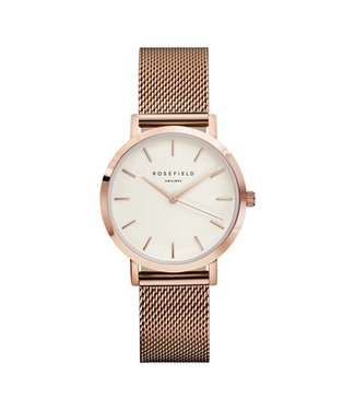 Rosefield Montre Tribeca white rosegold