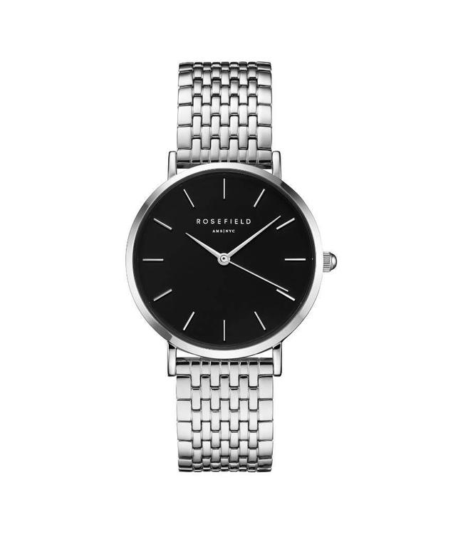 Rosefield Watch Upper East Side Black - Silver