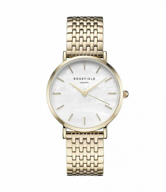 Rosefield Montre Upper East Side White Pearl - Gold