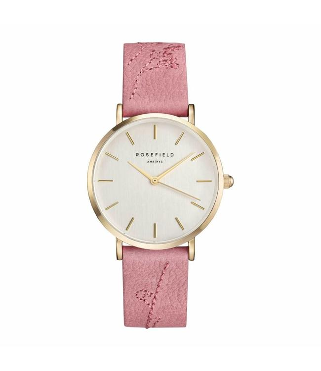 Rosefield Montre city bloom rose brush gold