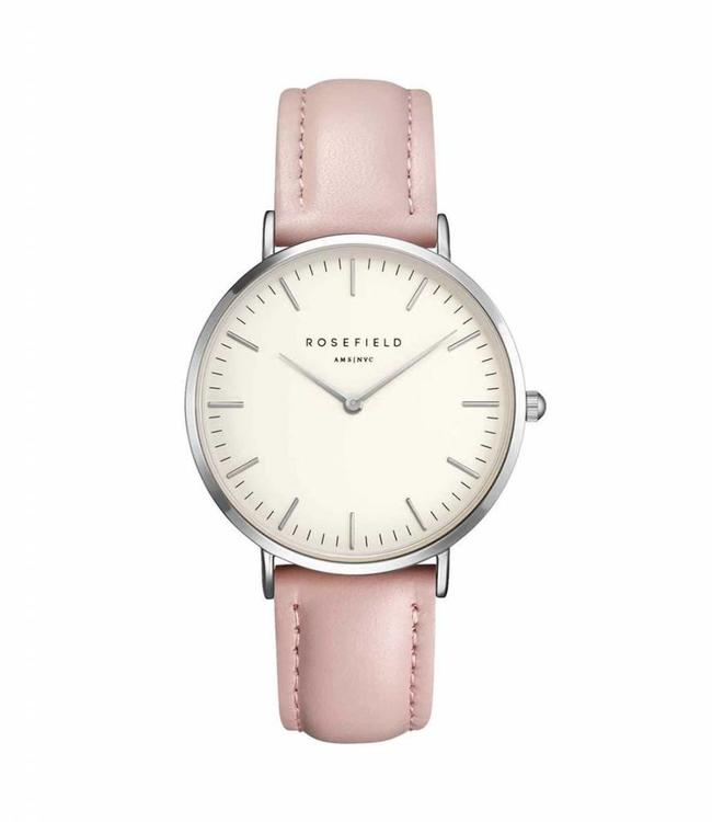 Rosefield Watch Bowery White Pink