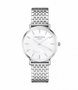 Rosefield Montre Upper East Side White Pearl - Silver