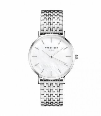 Rosefield Watch Upper East Side White Pearl - Silver