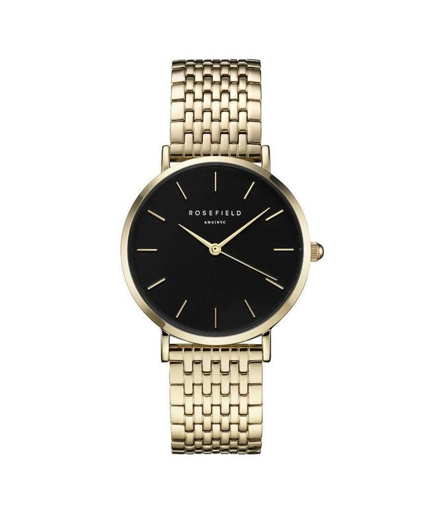 Rosefield Montre Upper East Side Black - Gold