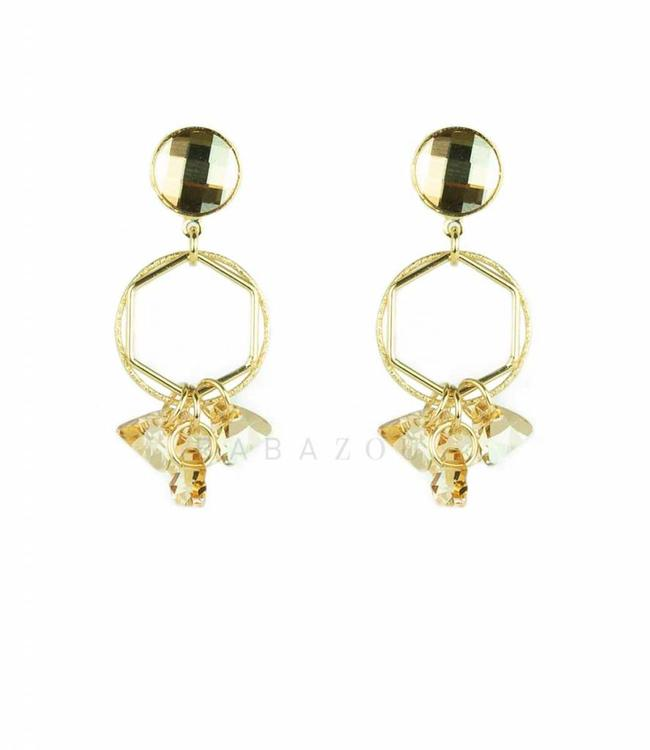 Inge Accessori Earring Sense Gold