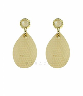 Inge Accessori Earring Bombato Straw