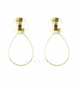 Inge Accessori Oorbel Drop Crystal Honey