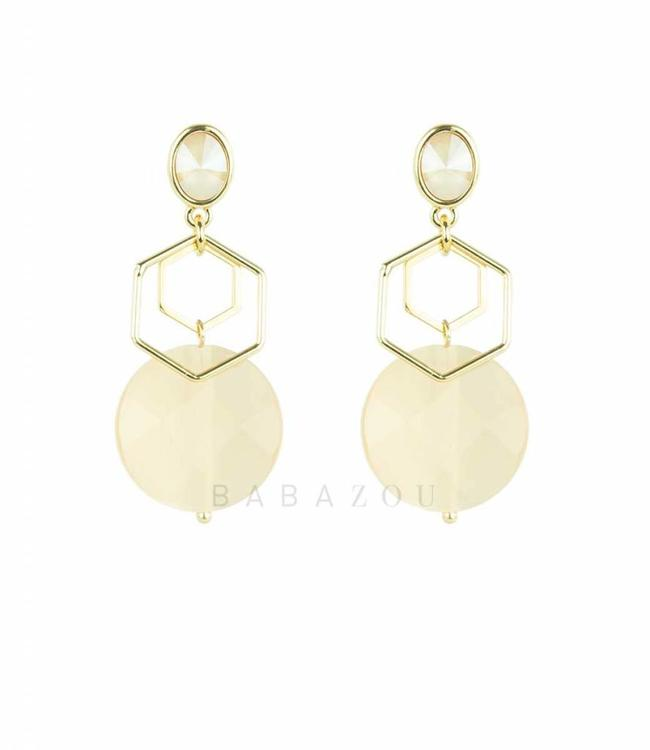 Inge Accessori Earring Esagono Light Pink