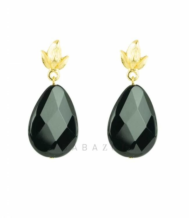 Inge Accessori Earring Foglio black
