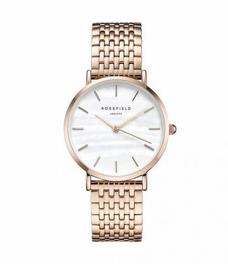 Rosefield Watch Upper East Side White Pearl - Rose Gold