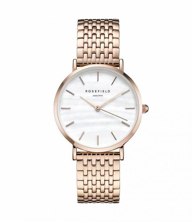 Rosefield Montre Upper East Side White Pearl - Rose Gold