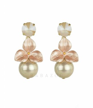 Inge Accessori Earring Fiore Light Pink