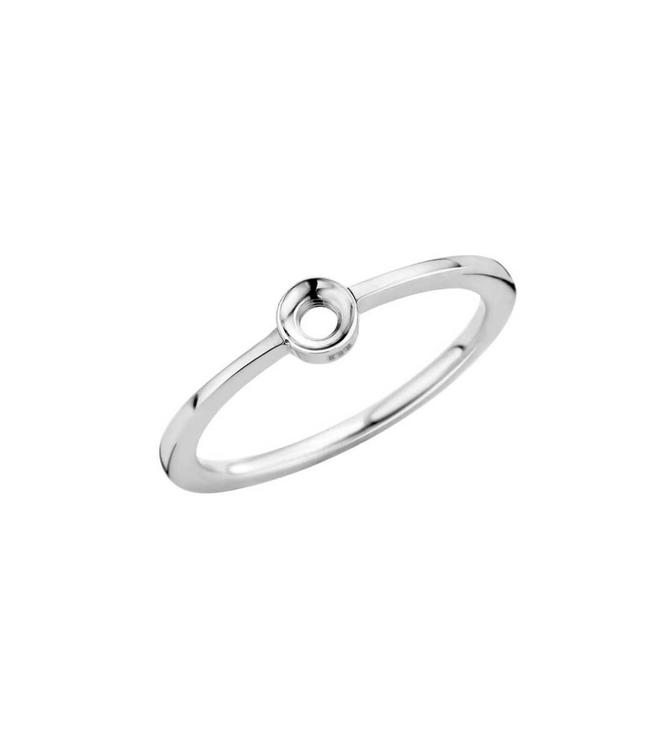 MelanO Bague Twisted Petite Silver