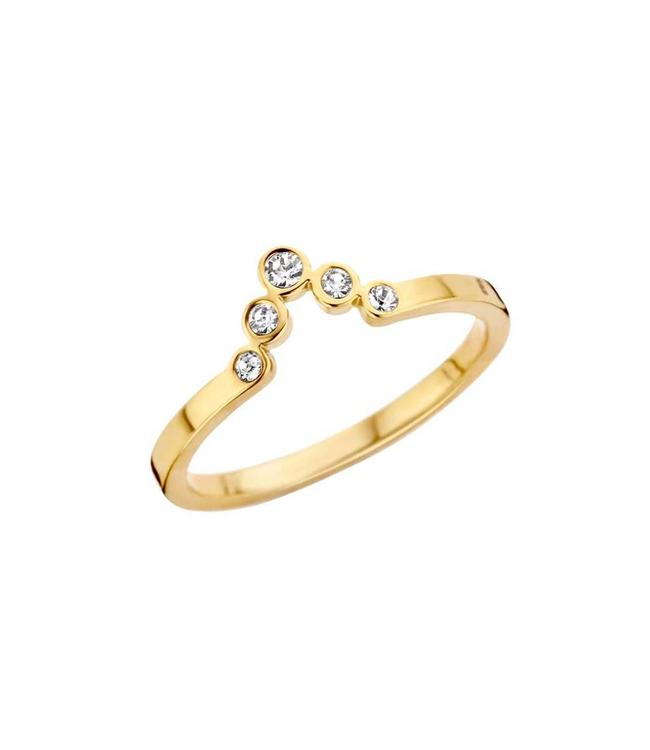 MelanO Ring Friends Pointed Gold CZ