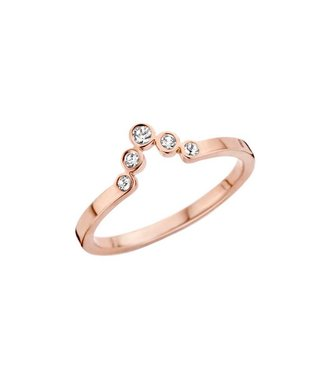 MelanO Ring Friends Pointed Rosegold CZ