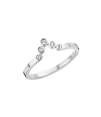 MelanO Ring Friends Pointed Silver CZ
