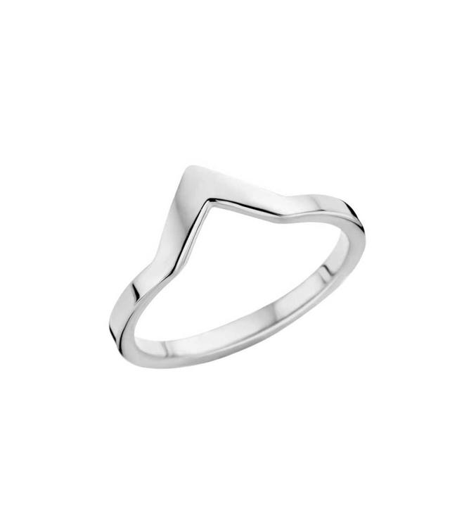 MelanO Bague Friends Pointed Silver