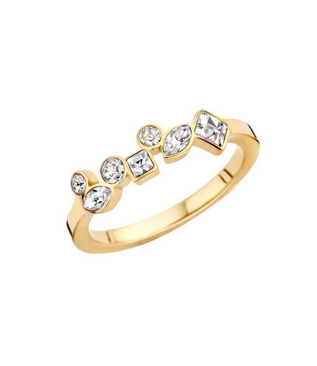 MelanO Ring Friends Mosaic Gold Crystal