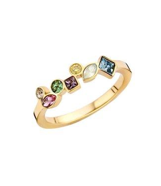 MelanO Ring Friends Mosaic Gold