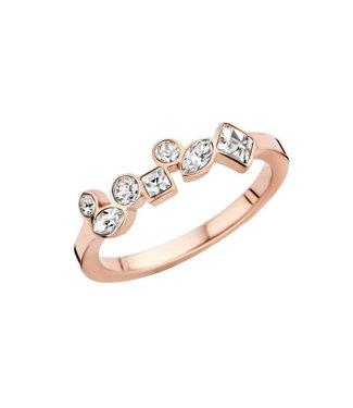 MelanO Ring Friends Mosaic Rosegold Crystal