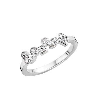 MelanO Ring Friends Mosaic Silver Crystal