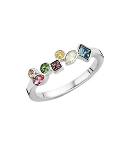 MelanO Ring Friends Mosaic Zilver