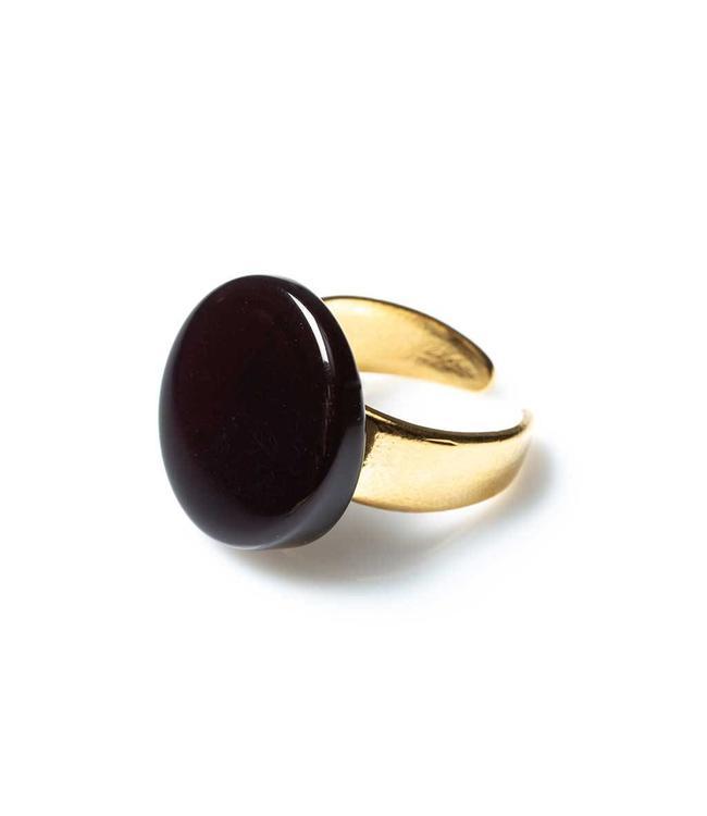 Laurence Delvallez Cara ring black