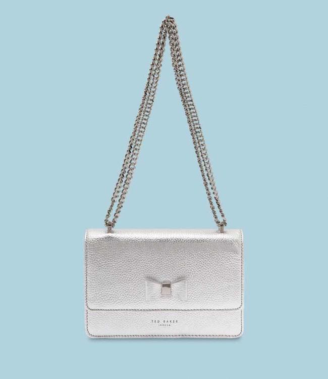 Ted Baker Handbag Drayaa metallic silver
