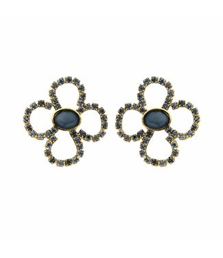 Souvenirs de Pomme Boucles d'oreilles Lola Bloom Navy