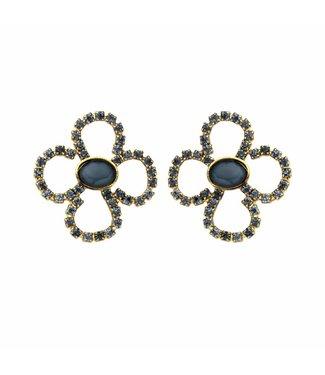 Souvenirs de Pomme Earring Lola Bloom Navy