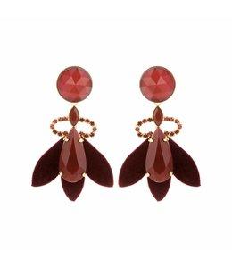 Souvenirs de Pomme Boucles d'oreilles Nona dark red