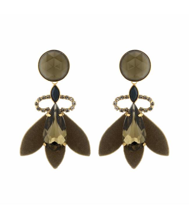 Souvenirs de Pomme Earring Nona Khaki