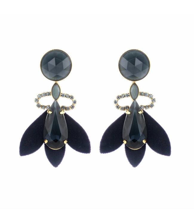 Souvenirs de Pomme Earring Nona Navy
